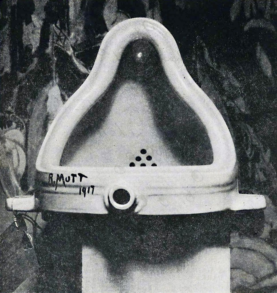 Fountain (Marcel Duchamp, photographed by Alfred Stieglitz), Wikipedia