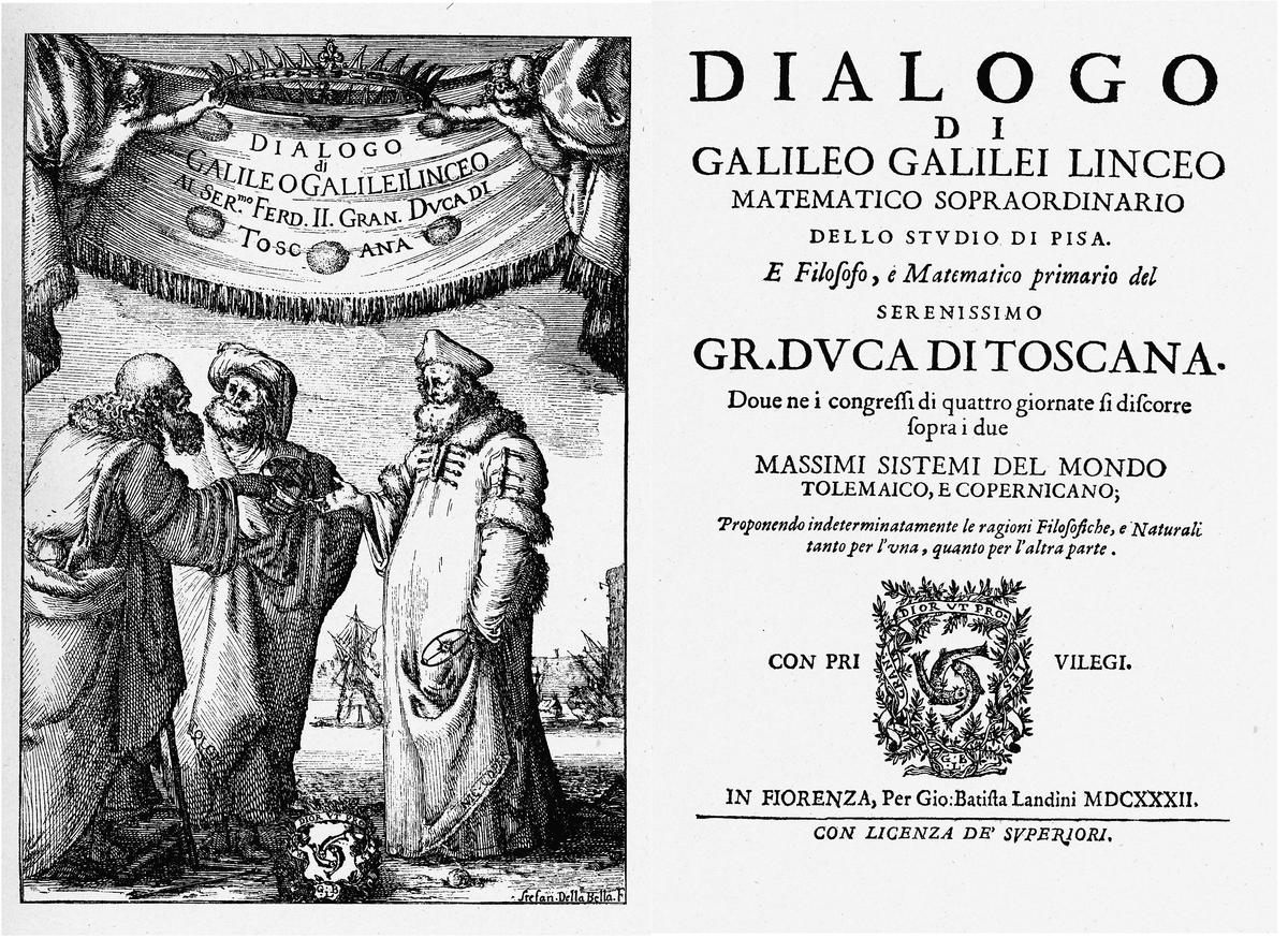 ปกหนังสือ Dialogue ที่ถูกแบนโดยศาสจักรจากการไต่สวน, Wikipedia