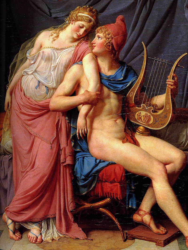 The Love of Helen and Paris โดย Jacques-Louis David, Wikipedia