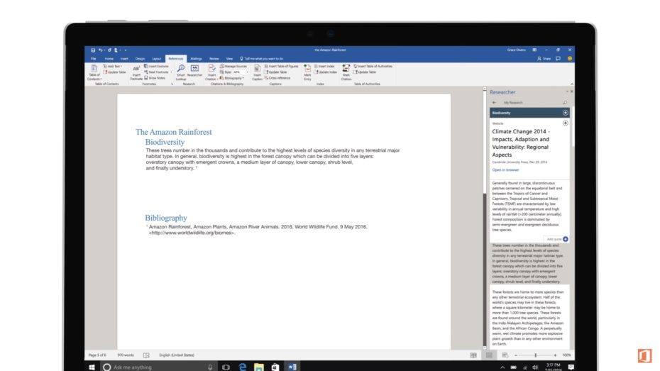 microsoft word homework
