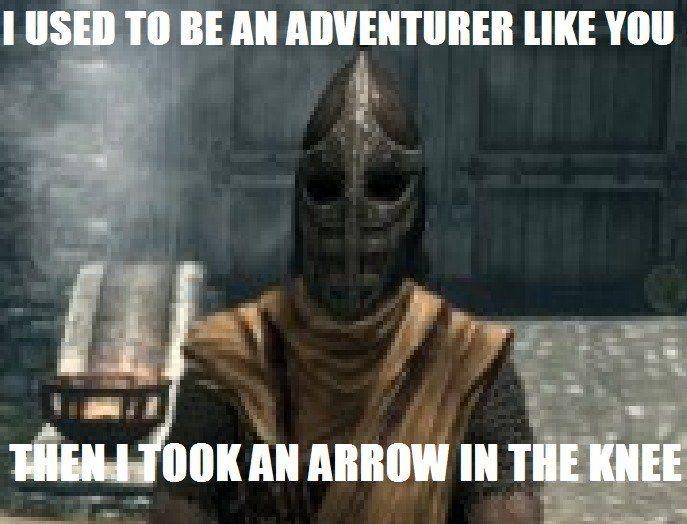arrowinknee