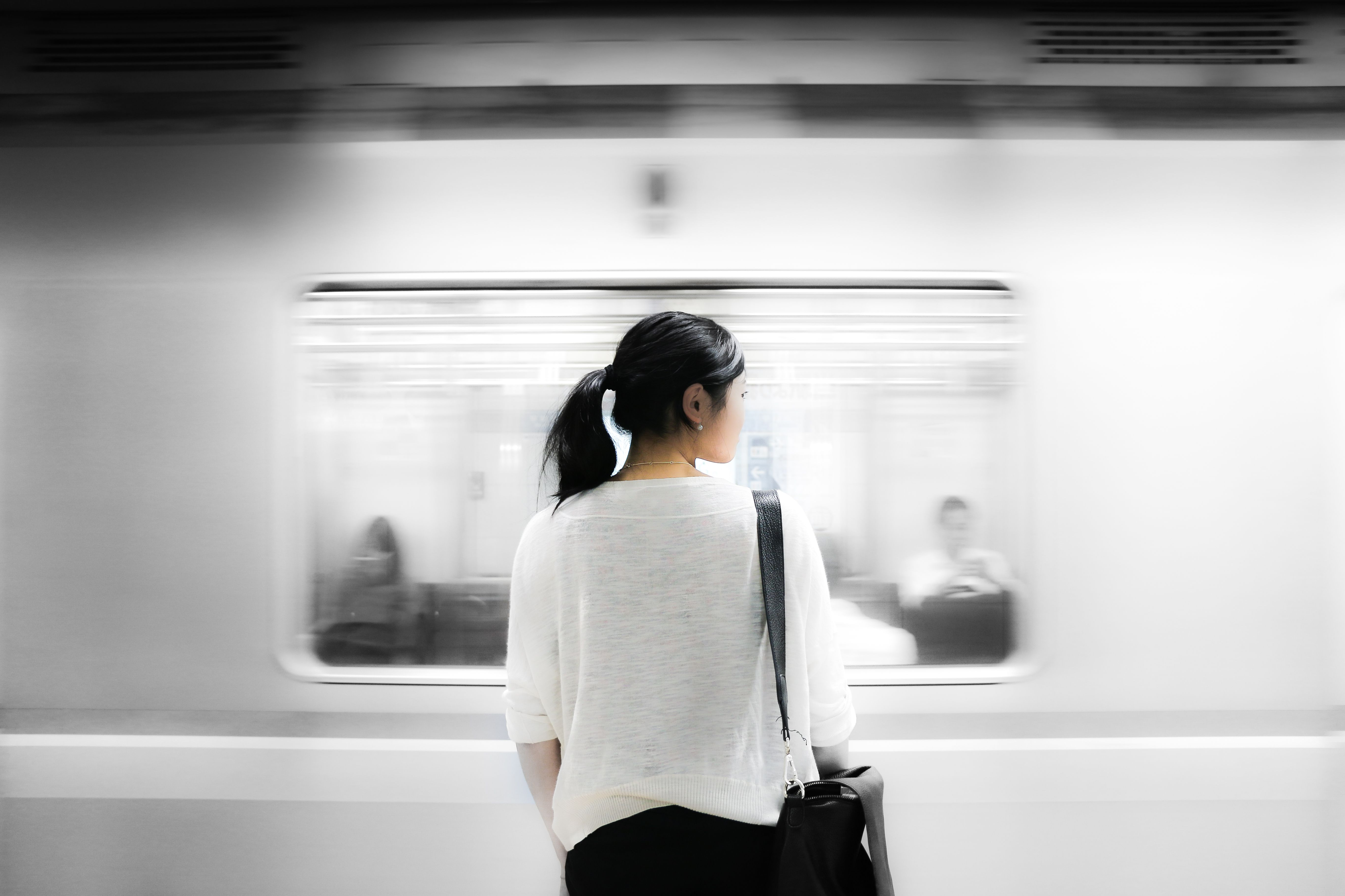 woman with train