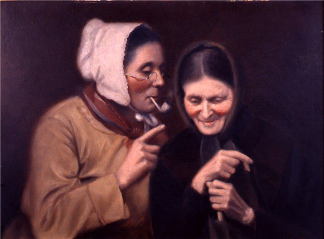 ภาพเขียน The Gossips โดย Horace Bonham วาดขึ้นในปี 1885, explorepahistory.com