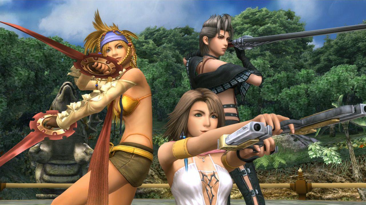 กลุ่มนางเอกในเกม FFX-2 - ภาพจาก https://www.primagames.com